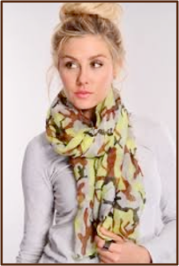 Wearing a scarf can help reduce exposure to cold